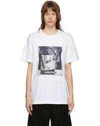 Juun.J ホワイト グラフィック T シャツ