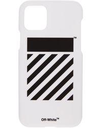 Off-White c/o Virgil Abloh - Ssense 限定 ホワイト Diag Iphone 11 Pro ケース - Lyst