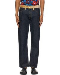 Marni Blue Denim & Corduroy Jeans