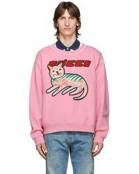 Gucci - グッチ キャット プリント スウェットシャツ - Lyst
