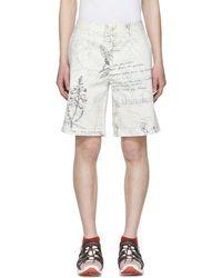 Alexander McQueen - White Denim Explorer Shorts - Lyst
