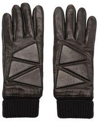 Bottega Veneta Black Leather High Frequency Gloves