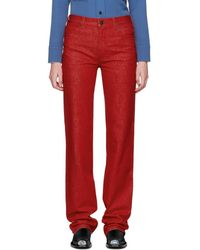 CALVIN KLEIN 205W39NYC - Red Straight Jeans - Lyst