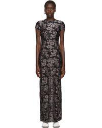 Eckhaus Latta ブラック And パープル シュランク ドレス