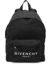 Givenchy - ブラック ロゴ バックパック - Lyst