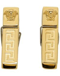 Versace ゴールド メドゥーサ ピアス - メタリック