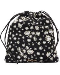 7f4666d5829 Miu Miu Daisy-print Drawstring Nylon Make-up Bag in Blue - Lyst