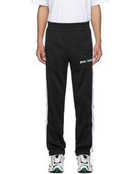 Palm Angels Black Classic Track Trousers