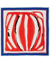Charles Jeffrey LOVERBOY Red & Blue Silk Scarf