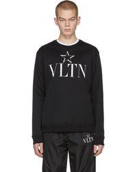 Valentino Vltn Star コレクション ブラック ジャージ スウェットシャツ
