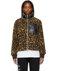 Amiri Brown & Tan Leopard Polar Fleece Jacket
