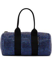 Alexander Wang Mini sac Cruiser noir et bleu à verre taillé