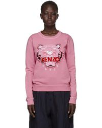 KENZO - Pink Limited Edition Bleached Tiger Sweatshirt - Lyst