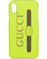 Gucci イエロー ビンテージ ロゴ Iphone X ケース
