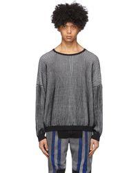 Eckhaus Latta ブラック And ホワイト Spine セーター