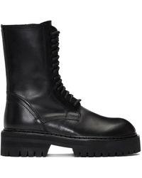 Ann Demeulemeester Black Tucson Lace-up Boots