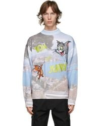 Gcds - Tom And Jerry Edition グレー And ブルー Napoli ロゴ セーター - Lyst