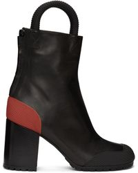 Random Identities Black & Worker Boots - Red