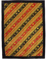 Versace Red Baroque Beach Towel - Multicolor