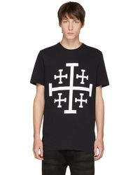 Neil Barrett - Black Jerusalem Cross T-shirt - Lyst