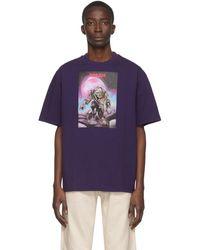 Acne Studios Monster In My Pocket Print T-shirt - Purple