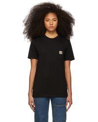 Carhartt WIP ブラック ポケット T シャツ