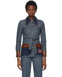 Gucci Blue Denim Eco Washed Jacket