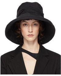 Y's Yohji Yamamoto Black Cloche Hat