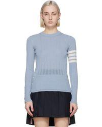Thom Browne - ブルー 4bar セーター - Lyst
