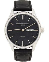 Frederique Constant シルバー And ブラック Classics クオーツ 腕時計 - メタリック