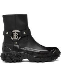Burberry ブラック Mallory ブーツ