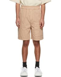 Jil Sander Short à poche en gabardine beige - Neutre
