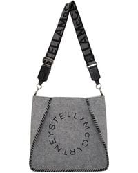 Stella McCartney Gray Mini Eco Felt Shoulder Bag
