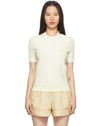 3.1 Phillip Lim オフホワイト ショート スリーブ セーター - ナチュラル