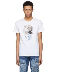 Alexander McQueen | White Split Skull T-shirt | Lyst