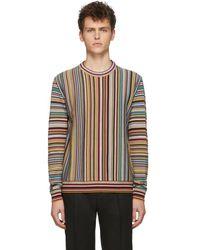 Paul Smith Signature Stripe Jacquard Wool Sweater - Multicolor