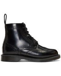 Dr. Martens - Black Delphine Boots - Lyst