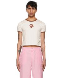 Marc Jacobs Off-white Heaven By Crochet Teddy Baby T-shirt