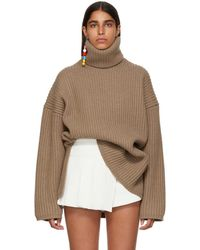 Acne Studios - Brown Ribbed Turtleneck - Lyst