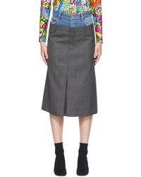 Balenciaga ブルー & グレー Double スカート