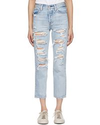 Levi's - Blue Wedgie Straight Jeans - Lyst