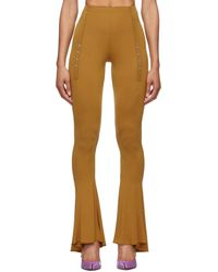 CHARLOTTE KNOWLES Pantalon brun clair ghater exclusif à ssense - Marron