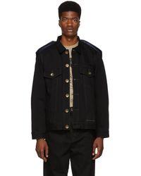 Miharayasuhiro - Black Docking Denim Jacket - Lyst