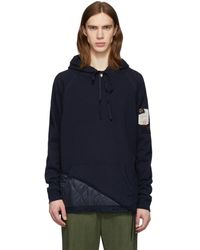 Greg Lauren - Paul And Shark Edition ネイビー パネル フーディ - Lyst