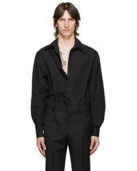 Givenchy ブラック ボタンレス シャツ