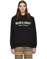Burberry - Logo Print Cotton Hoodie - Lyst