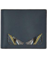 Fendi - Navy Bag Bugs Bifold Wallet - Lyst