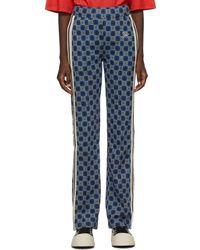 Wales Bonner Pantalon de survêtement London bleu en coton
