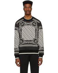 Dolce & Gabbana - ブラック And ホワイト バンダナ スウェットシャツ - Lyst