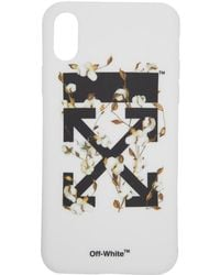 Off-White c/o Virgil Abloh - White And Black Cotton Flower Iphone X Case - Lyst